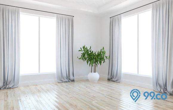 gorden minimalis putih