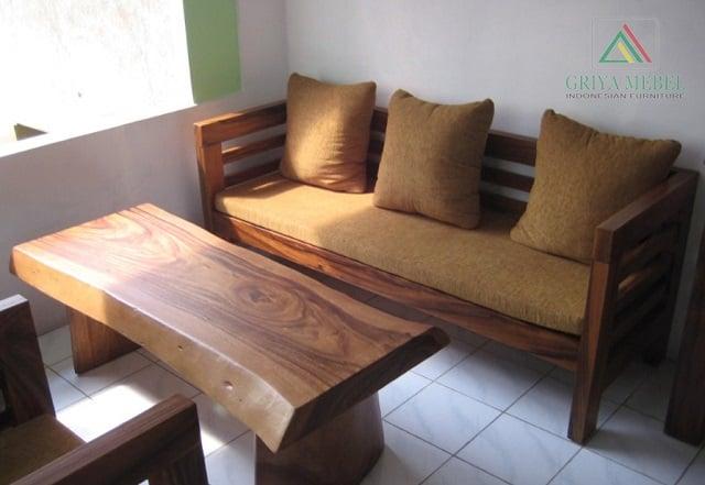 kursi tamu kayu rustic