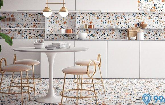 lantai teraso dapur