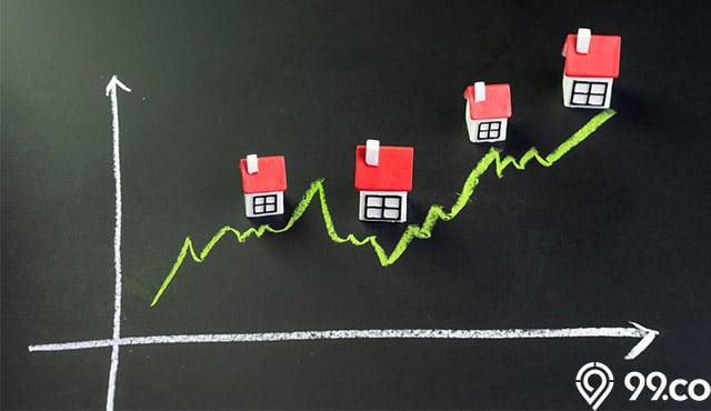 harga properti primer naik