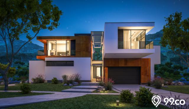 11 Desain Fasad Rumah Industrial yang Impresif | Hunian Unik Masa Kini!