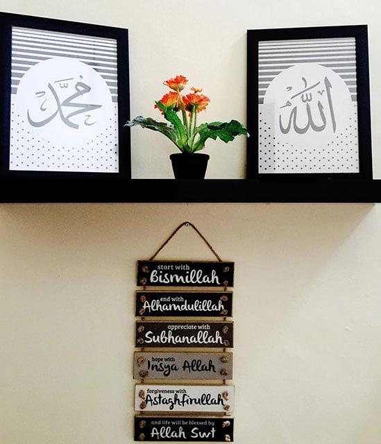 hiasan dinding kamar islami