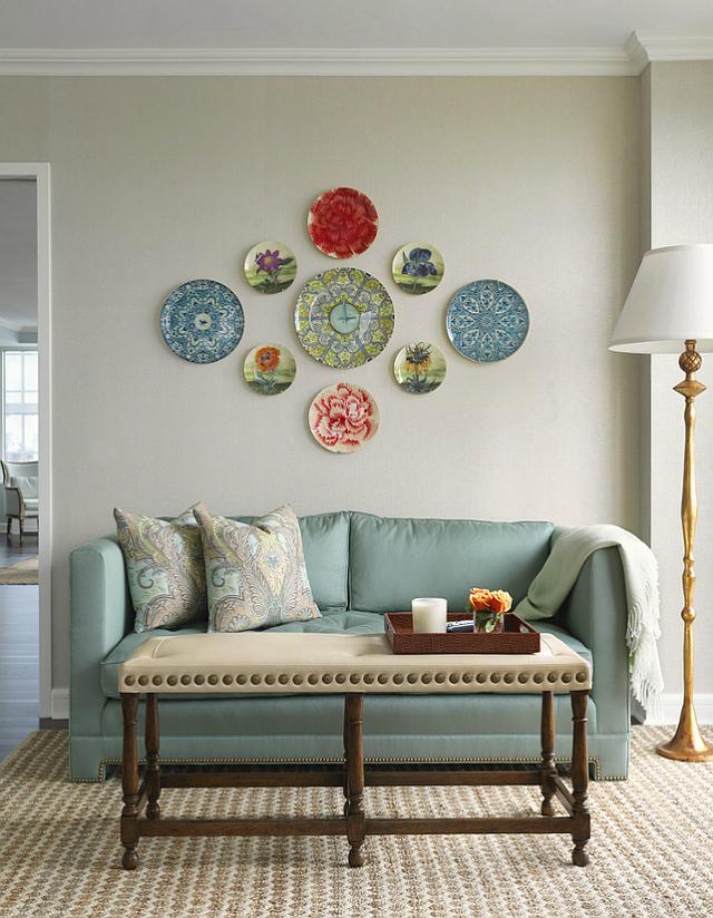 dekorasi hiasan dinding piring cantik
