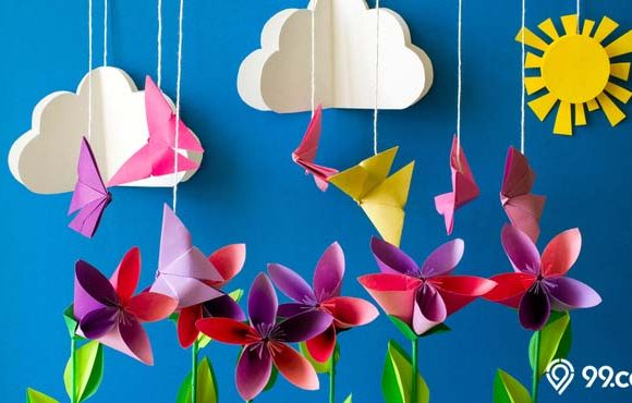 cara membuat hiasan dari kertas origami