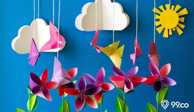 8 Cara Membuat Hiasan Dari Kertas Origami Hemat Bujet Cantik