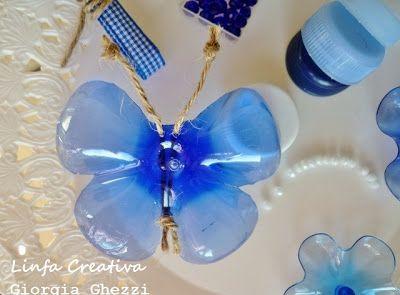 bentuk kupu-kupu plastik