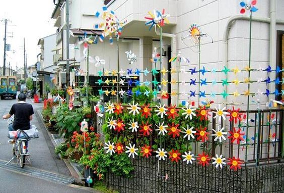 hiasan pagar bunga dari plastik