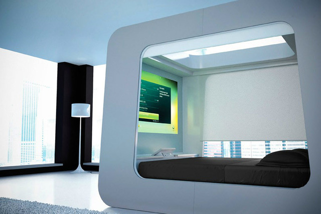 kamar tidur teknologi tinggi