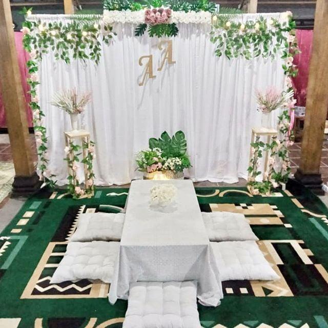 dekorasi akad nikah rumah