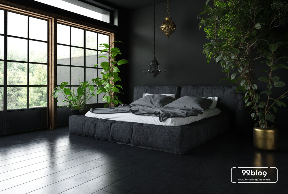 warna cat kamar tidur hitam