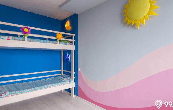 cat dinding kamar 2 warna