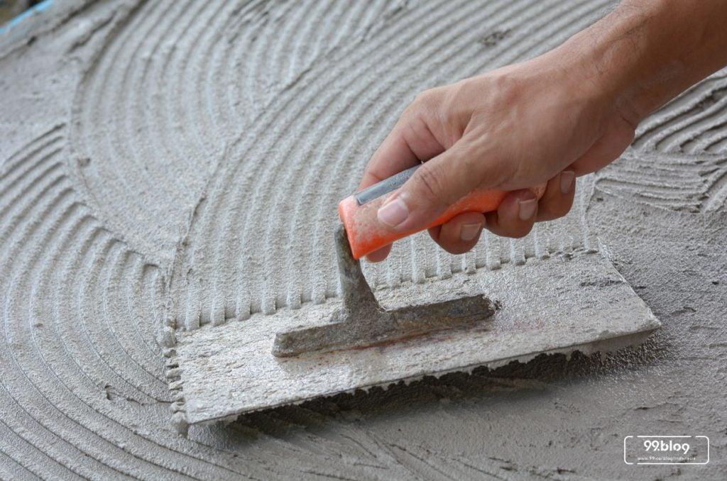 cara mengaci lantai