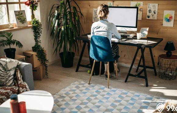cara menata ruang kerja yang sempit