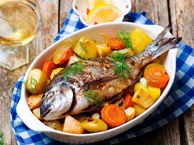 ikan dan sayuran