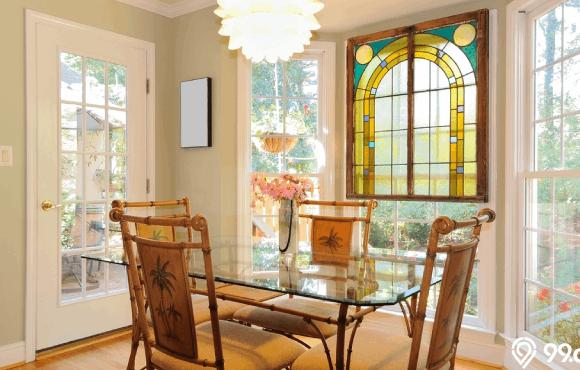 inspirasi desain kaca patri interior rumah