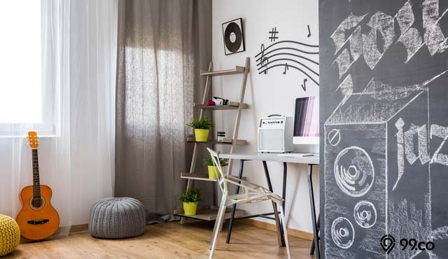 9 Inspirasi Hiasan Ruang Tamu dengan Tema Musik | Rumah Terlihat Berjiwa Seni Banget!