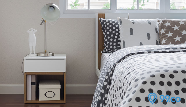 6 Inspirasi Desain Nakas Minimalis yang Simpel | Bikin Kamar Tidur Lebih Cantik