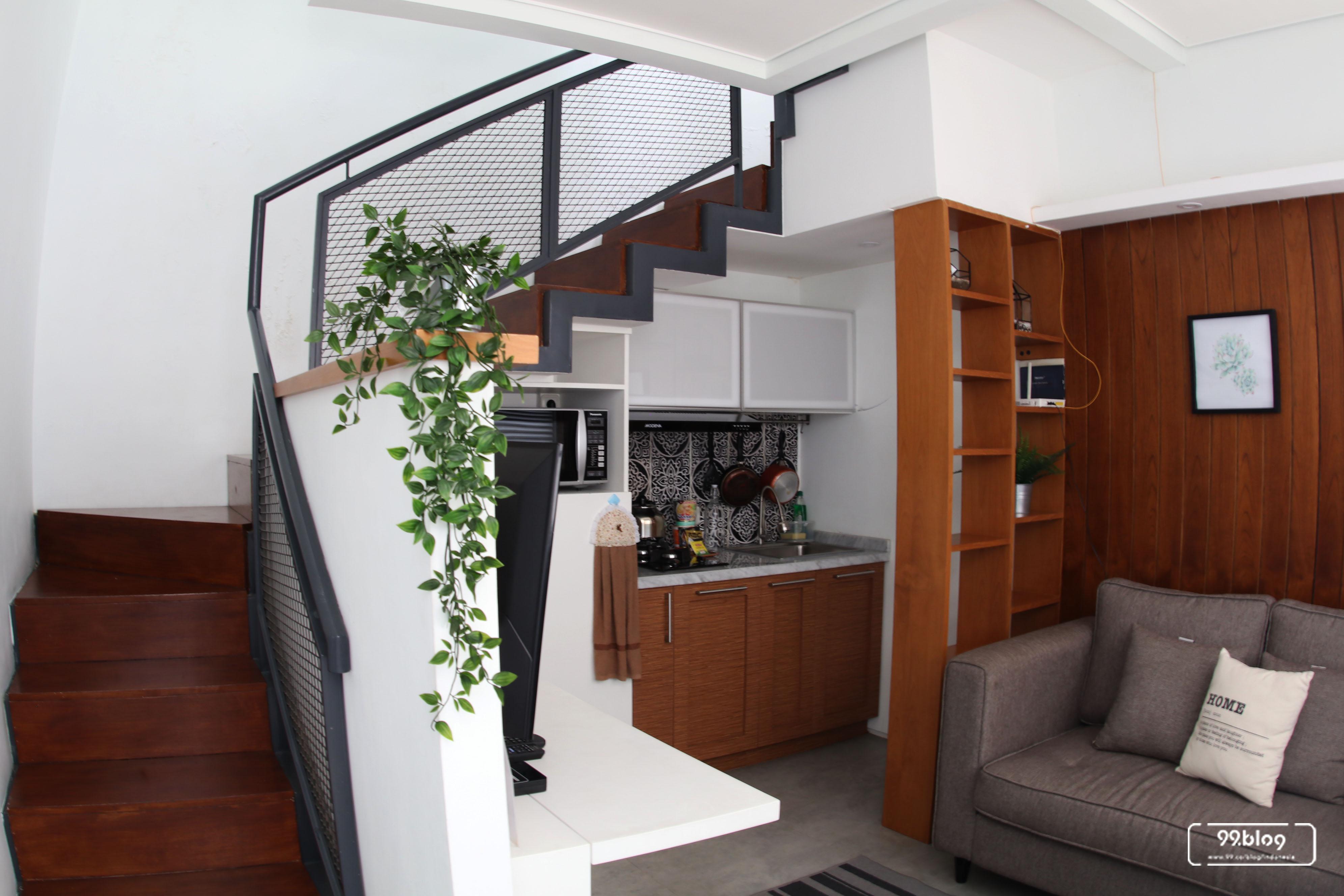 ruang keluarga white cliff house