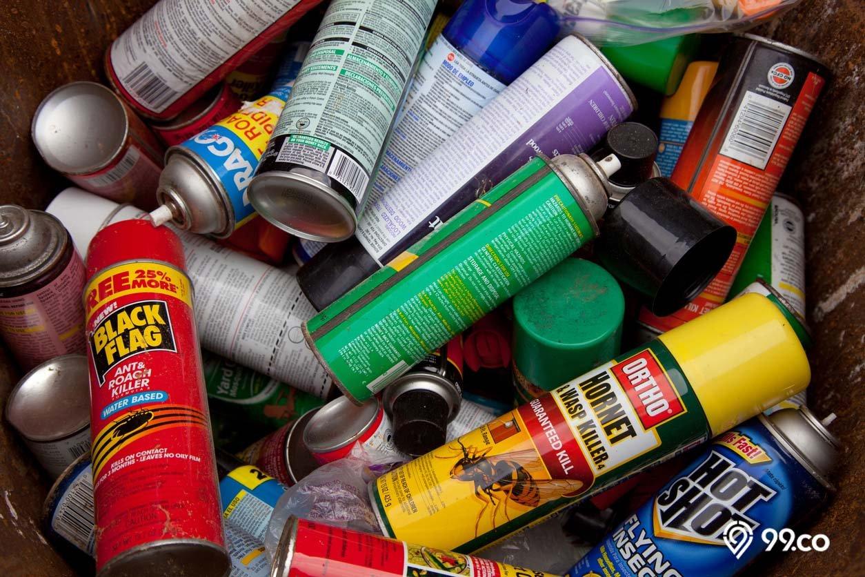 contoh limbah b3 kaleng aerosol kosong
