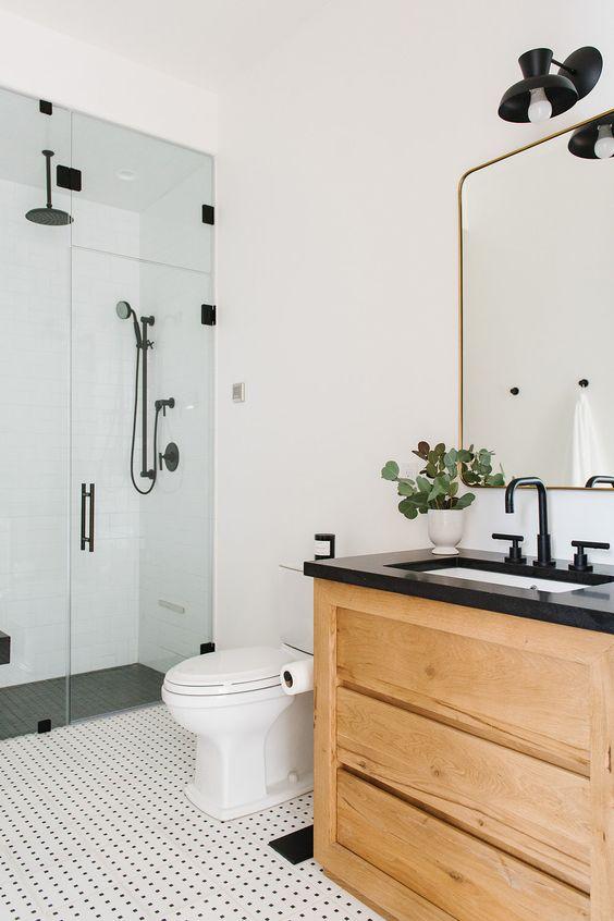 kamar mandi trendi keramik putih