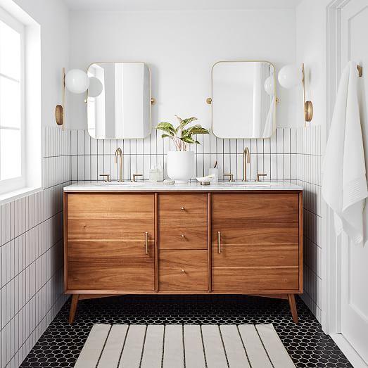 kamar mandi vintage warna putih perabotan antik