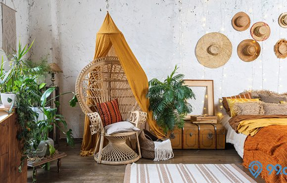 kamar tidur bergaya interior