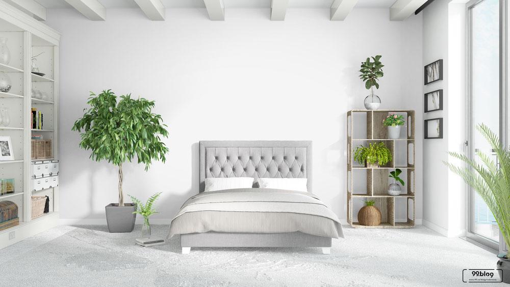 kamar tidur putih