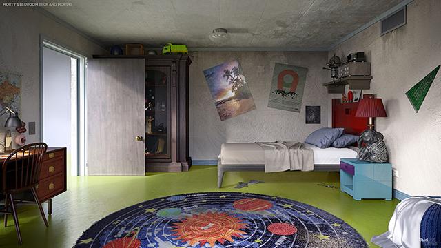 desain kamar tidur anak kartun