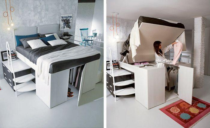 tempat tidur multifungsi lemari