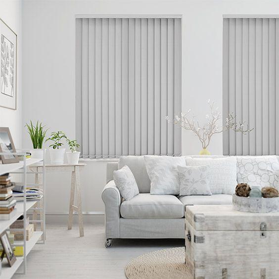 kerai vertical blind putih