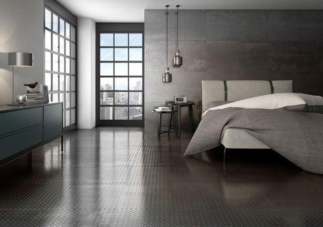keramik dinding kamar tidur industrial