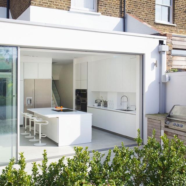 inspirasi dapur semi outdoor minimalis