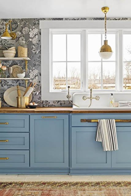 7 Kombinasi Warna  Cat  Dapur  Sempit yang Bikin Ruangan