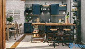 kombinasi warna cat dapur rumah sempit