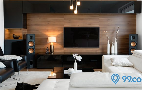 lampu hias ruang tamu modern