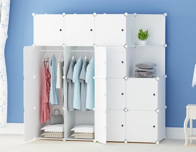 desain lemari terbuka