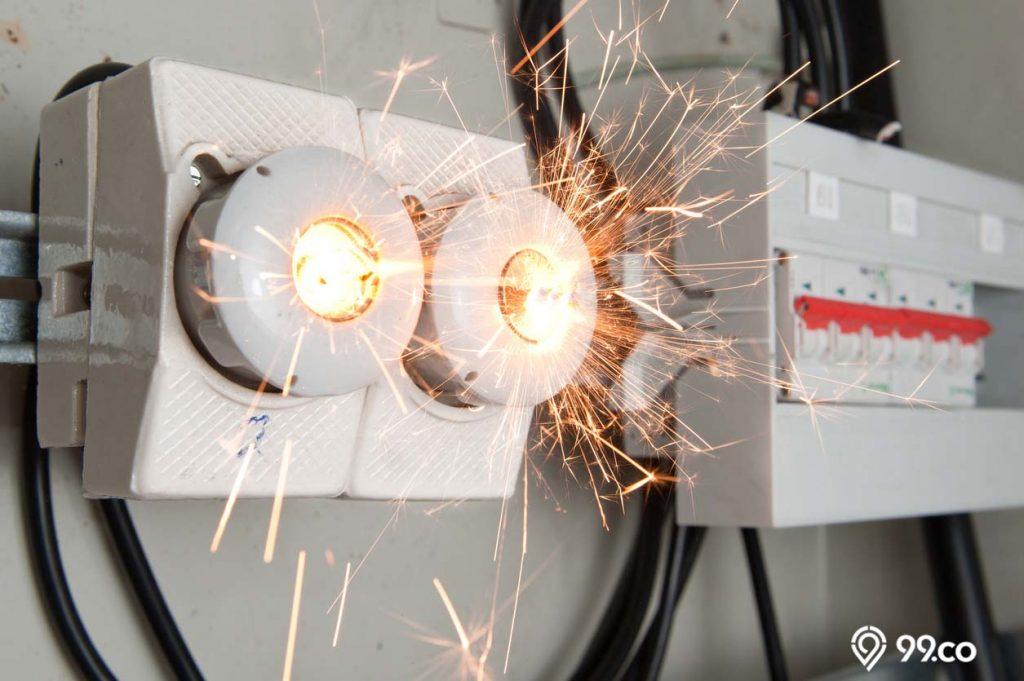 cara mencegah listrik konslet