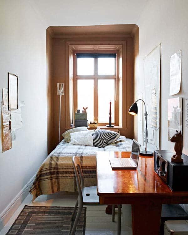 kamar sempit dengan satu jendela