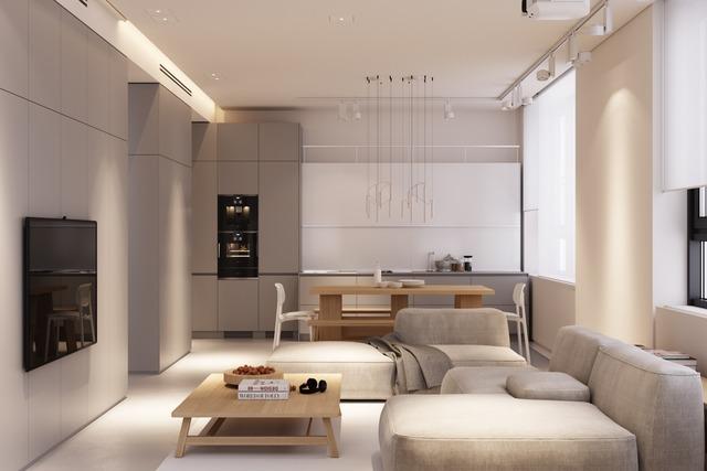 ruang keluarga japandi