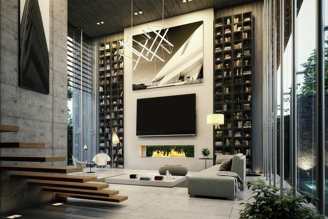 desain ruang keluarga elegan