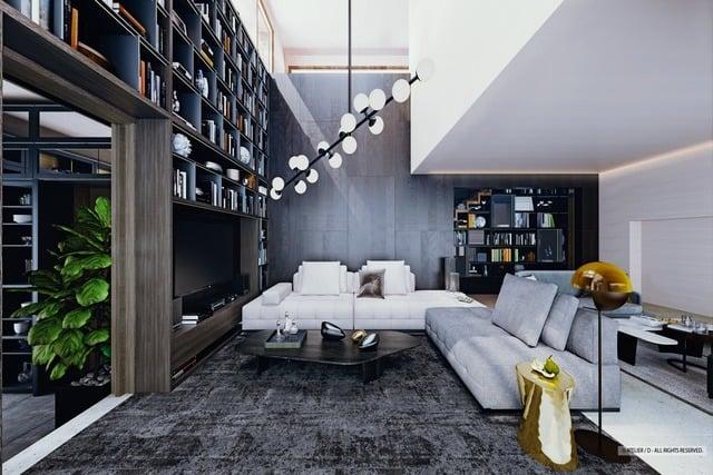 ruang keluarga cozy