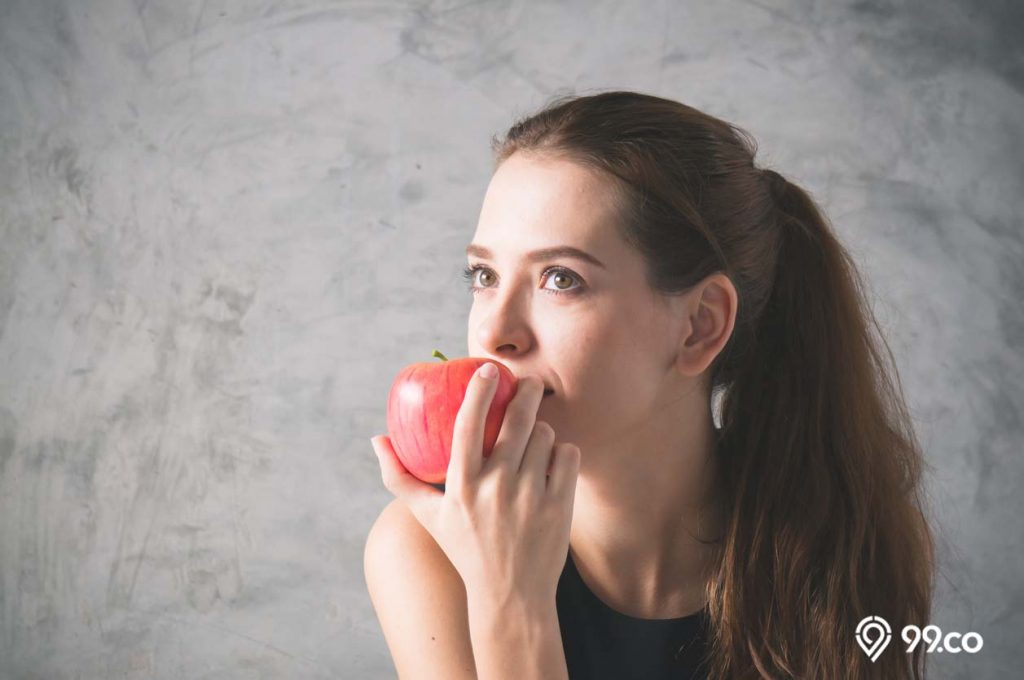makan apel merah pertanda akan hamil
