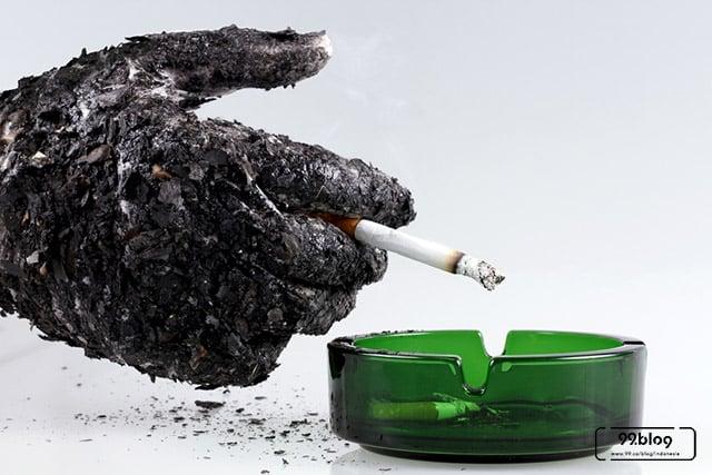 manfaat abu rokok