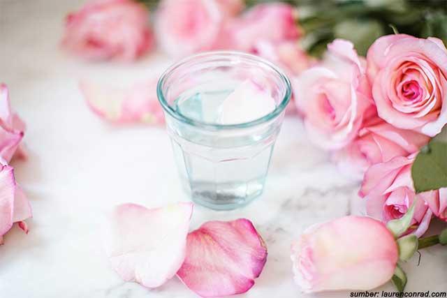 satu gelas air mawar