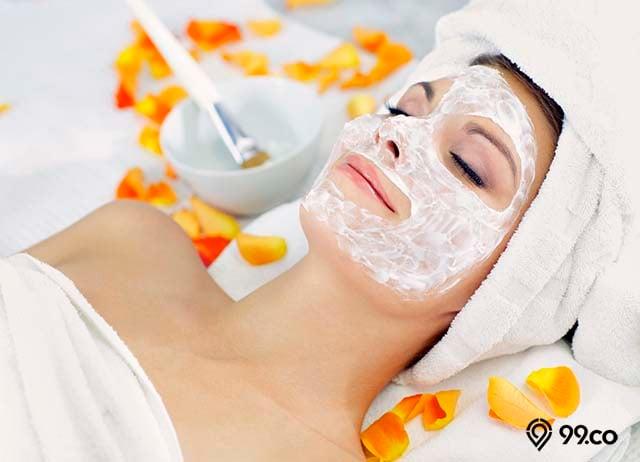 masker beras untuk memutihkan wajah