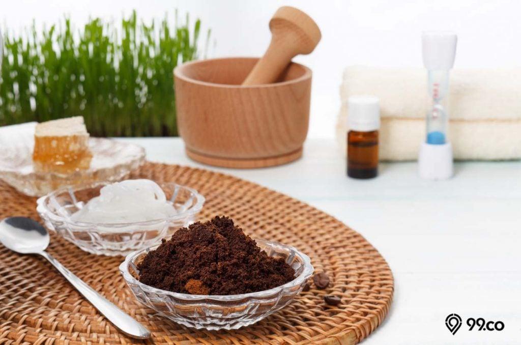 masker kopi untuk kulit putih