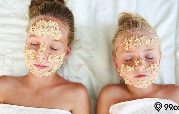 cara membuat masker oatmeal