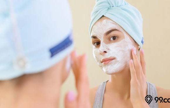 cara memutihkan kulit pakai masker tepung beras