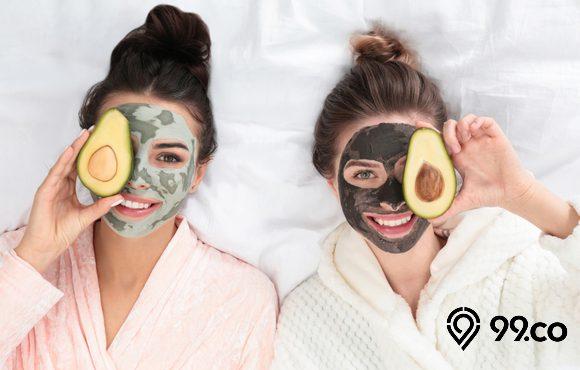 masker wajah alami wanita
