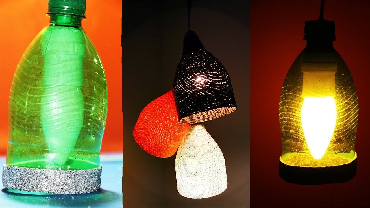 Cara Membuat Lampu Tidur Unik Dari Bahan Daur Ulang Mudah Lho Lampu tidur buatan sendiri